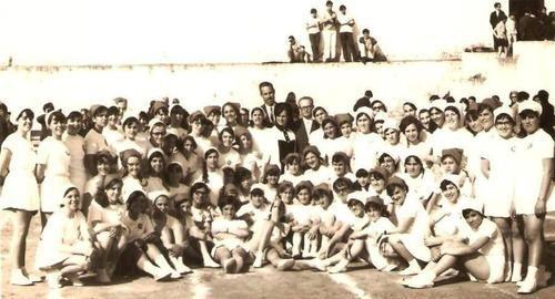 1960s, Angra do Heroísmo, Ilha Terceira  Classe de Ginástica da Escola Industrial e Comercial de Angra do Heroísmo
