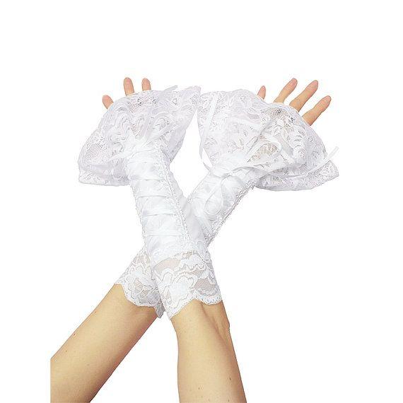 bridal fingerless gloves bridal gloves by FashionForWomen on Etsy