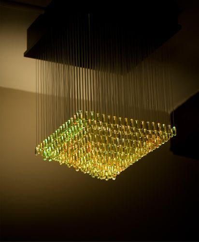 how to make a fiber optic chandelier