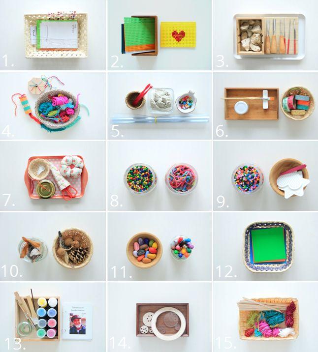 Einige Kunstmaterialien für meine Tochter (4 Jahre alt)