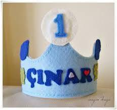 1 yaş doğum günü magnet keçe - Google Search