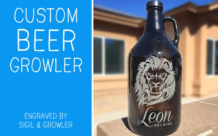 Custom Beer Growler - Perfect Christmas Present for Beer Lovers! Present Ideas for Men. Growler engraving by Sigil & Growler