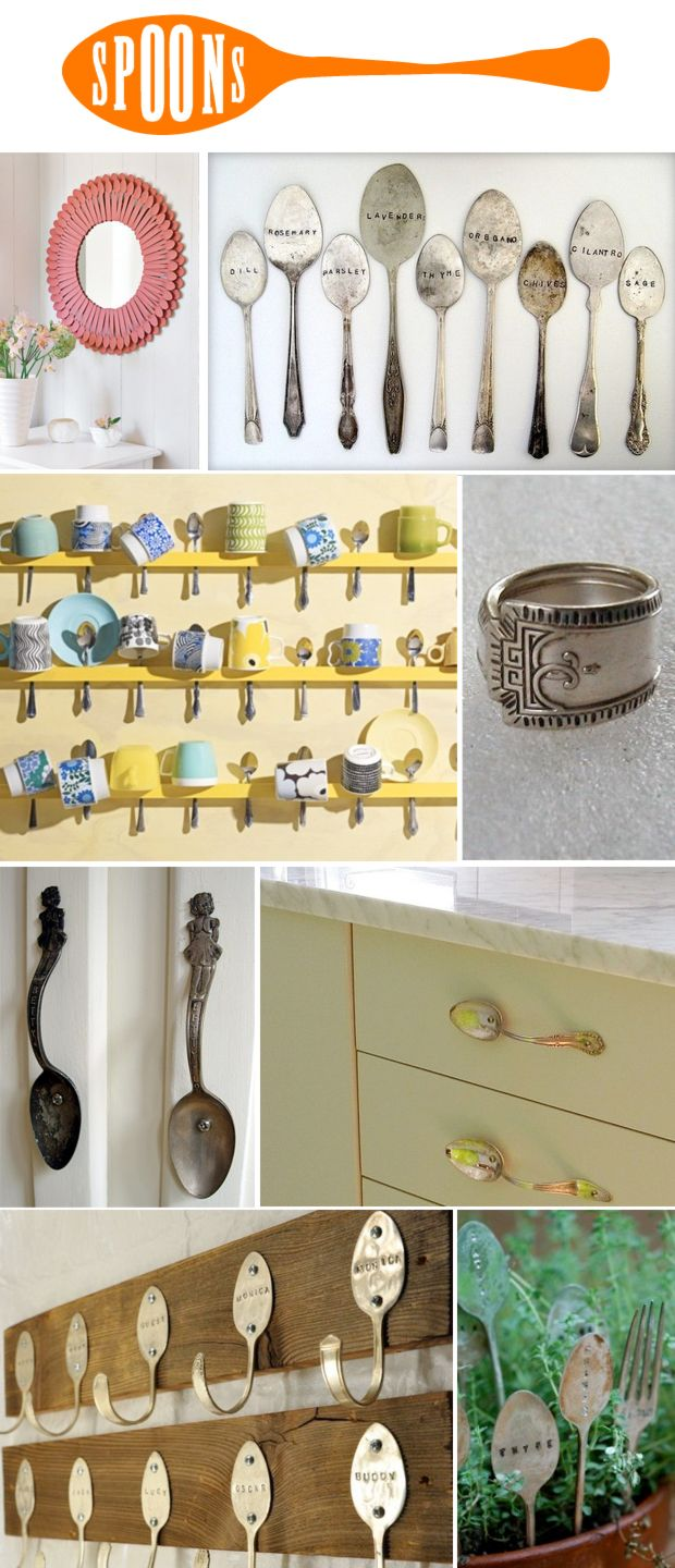 spoonsCute Ideas, Spoons Ideas, Coffee Cups, Cool Ideas, Spoons Crafts, Multi Tal Spoons, Multi Tal Object, Door Handles, Justina Blakeney
