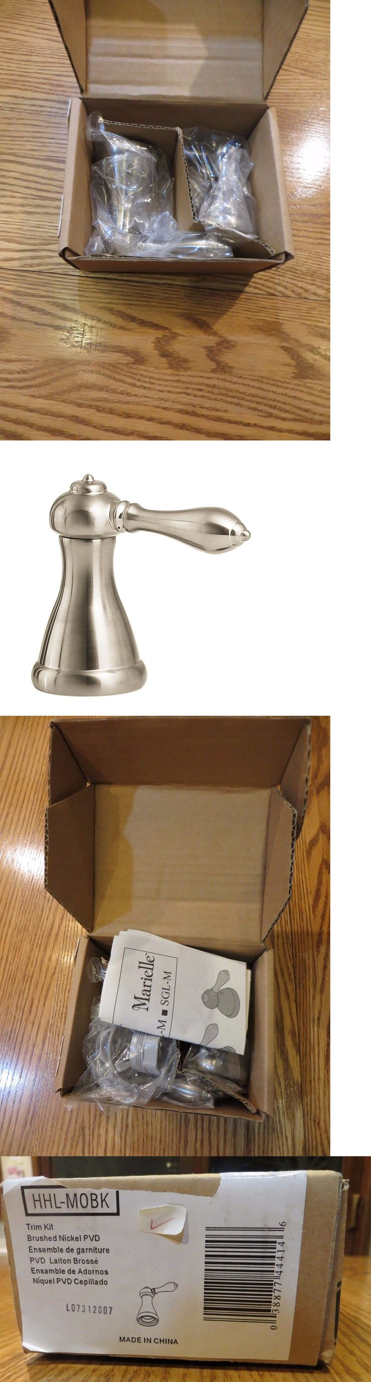 Other Home Plumbing and Fixtures 3191: 2 Pfister Marielle Brushed Nickel Faucet Handle(S) Hhl-M0bk Roman Tub, 8 Sink -> BUY IT NOW ONLY: $54.95 on eBay!