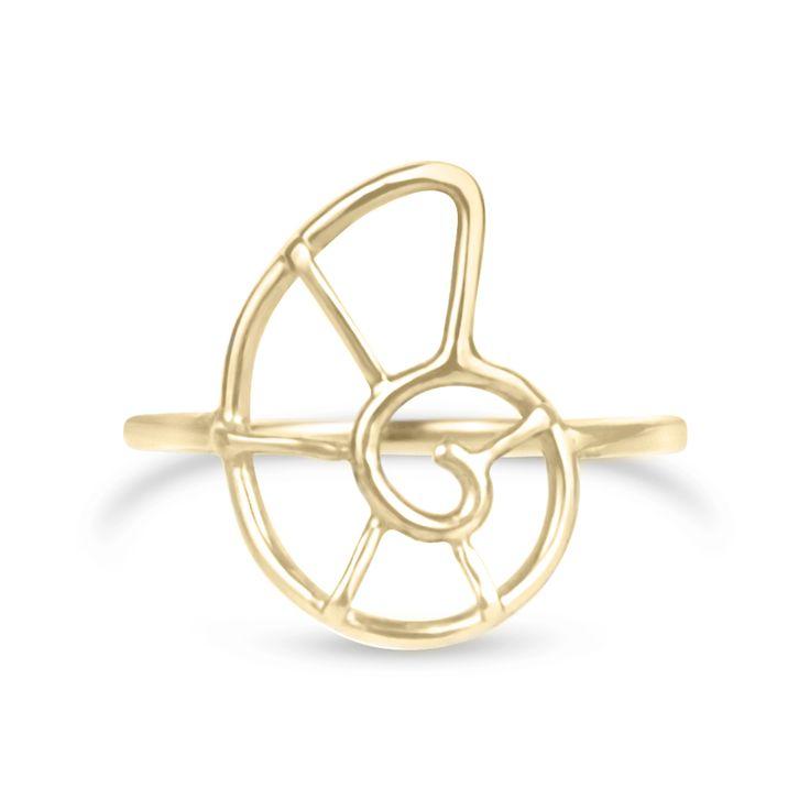 Gold Nautilus Shell Ring