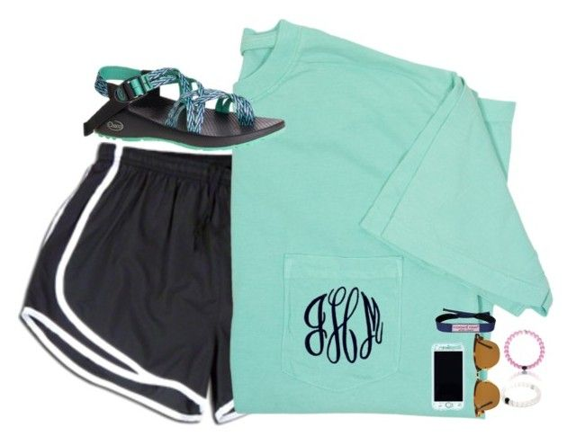 """""""{monograms}"""" by preppy-ginger-girl ❤ liked on Polyvore featuring NIKE, Chaco, Lilly Pulitzer, Vineyard Vines and Ray-Ban"""