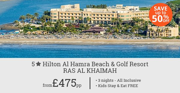 Be prepared for a pleasant surprise with a 3 night budget stay in Ras Al Khaimah. Experience royalty the Hilton way with up to 50% discount on your reservation.