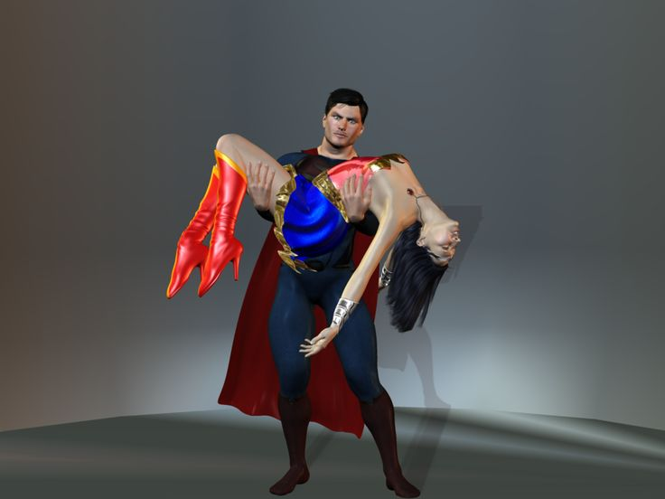 Superman Carries Wonder Woman by just-a-heathen on ...