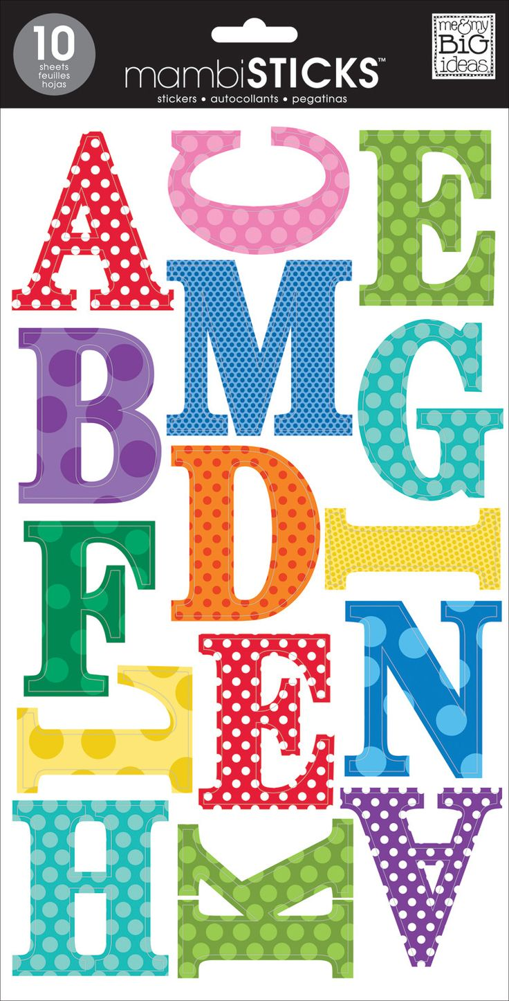 Bright Polka Dots - Medium Uppercase