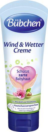 Bübchen Wind & Wetter Creme schützt zarte Babyhaut mit den Wirkstoffen Mandelöl und Sheabutter. Die intensive Pflege bewahrt die Haut vor Wettereinflüs...