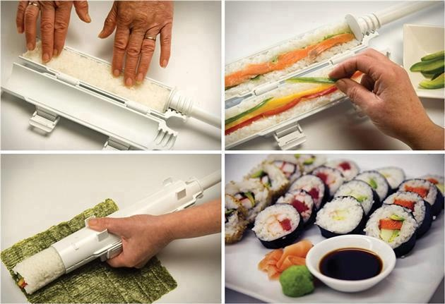 Instant sushi maker http://www.lovedesigncreate.com/sushezi-sushi-made-easy/ For you. easy way.
