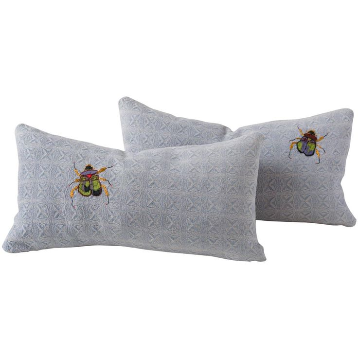 Vintage Southeast Asian Hand-Loomed and Embroidered Pillows | From a unique collection of antique and modern pillows and throws at https://www.1stdibs.com/furniture/more-furniture-collectibles/pillows-throws/