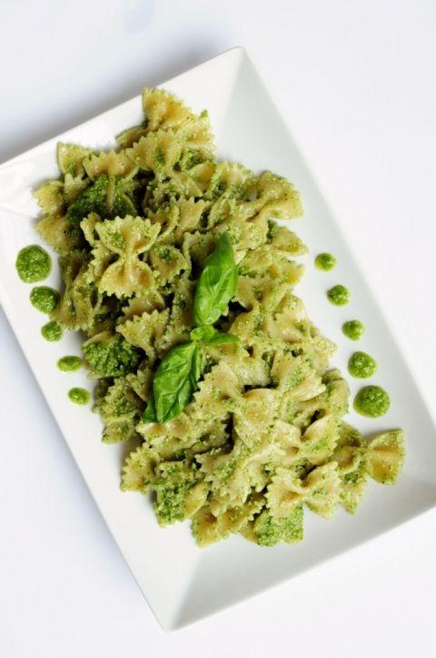 Cilantro Basil Pesto Pasta Recipe - Vegan Family Recipes