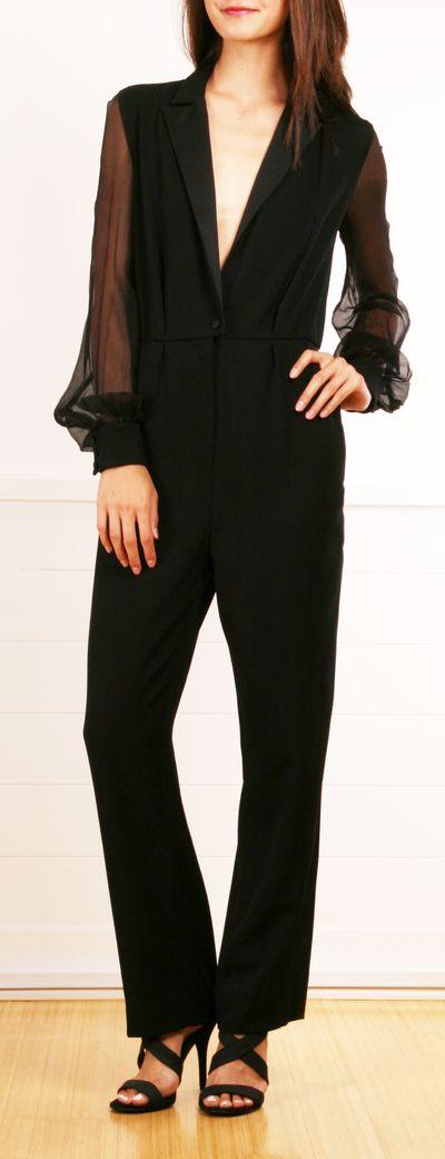 Yves Saint Laurent Jumpsuit in Black.