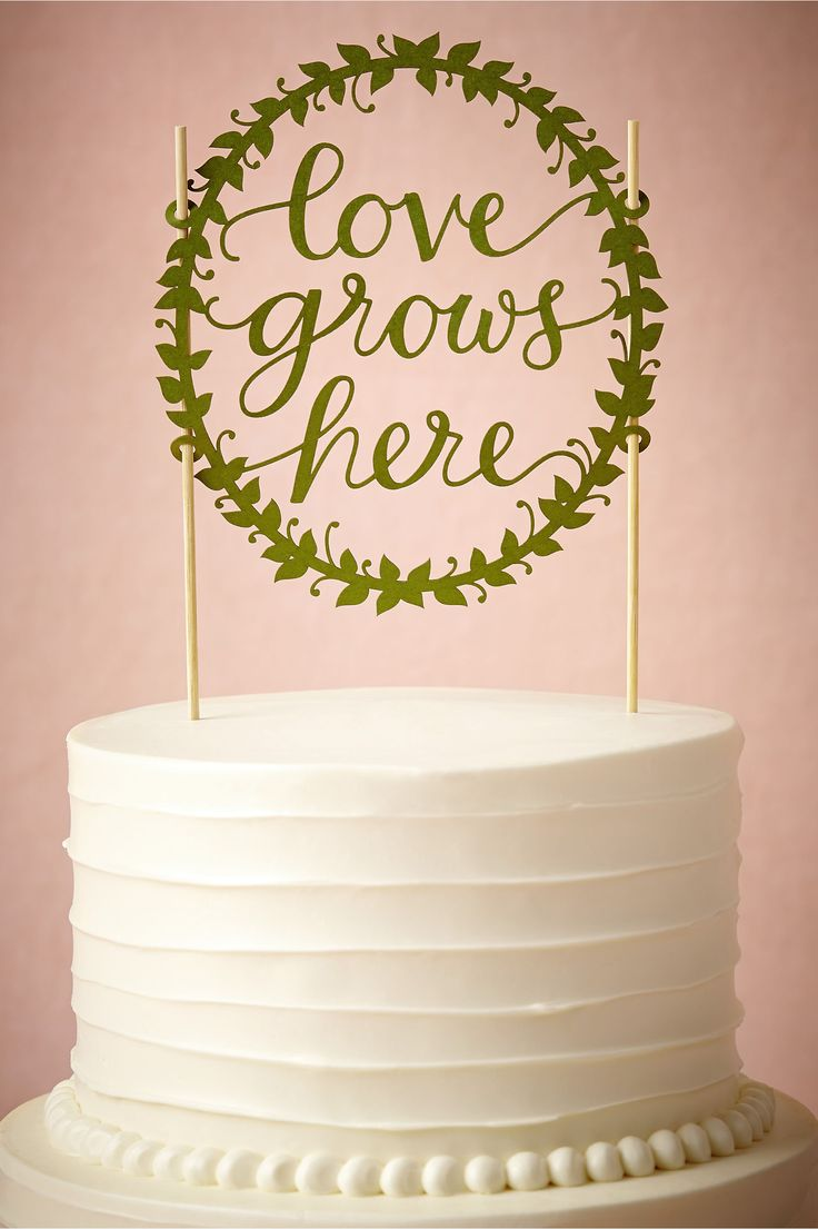 Love Grows Here Cake Topper from BHLDN