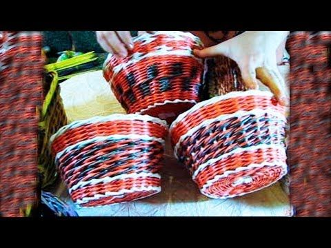Video tutorial on newspaper weaving by Elena Tischenko. In this lesson the weaver will tell you about the layerwise kind of weaving. Layerwise weaving is one...
