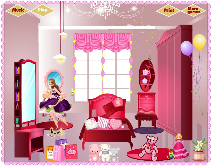 Baby Barbie My Girl Room Deco