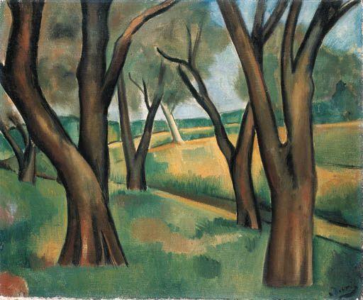 Andre Derain: Arbres Cagnes (1910)