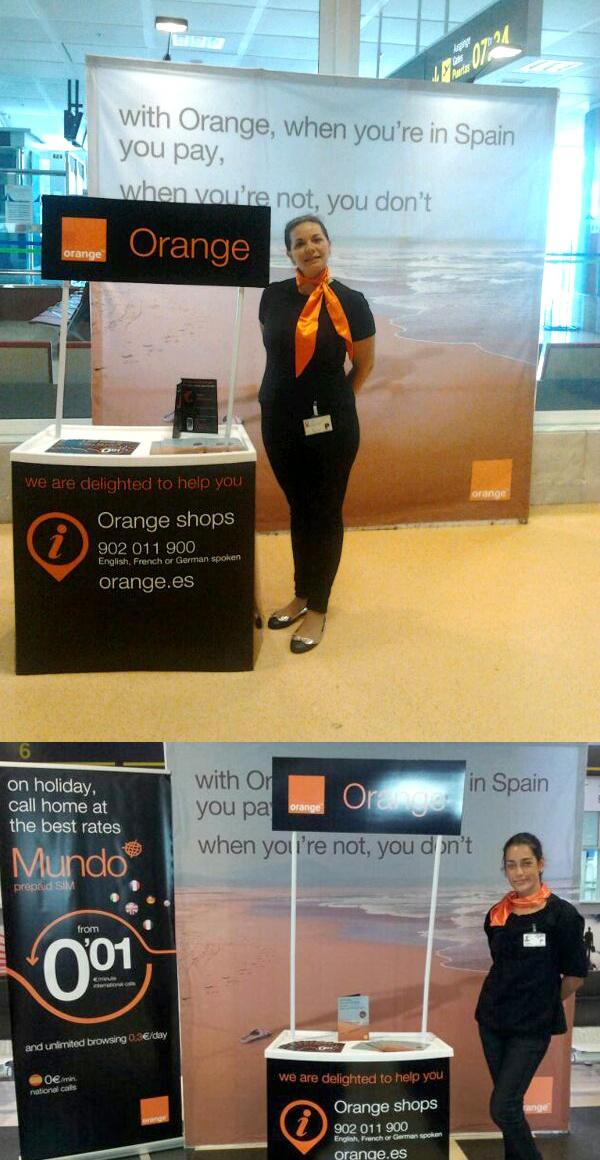 Nueva campaña de Orange con promoción de nuevas tarifas y servicios para turistas y extranjeros de valor.