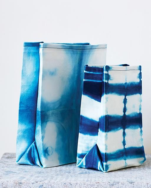 Shibori Dyed Lunch Bags