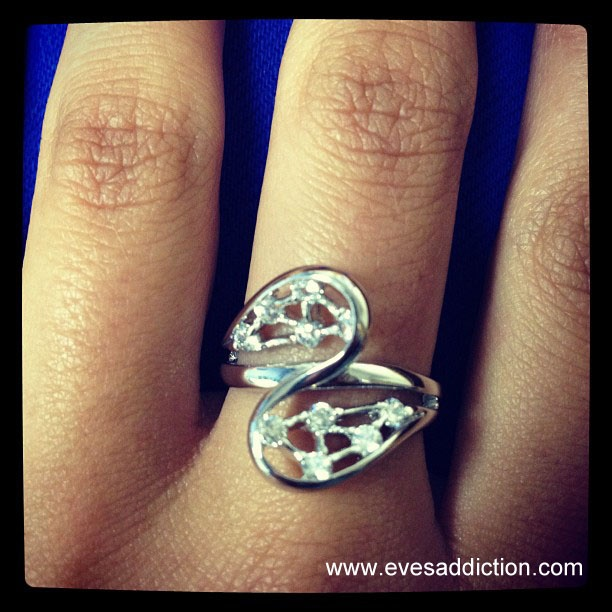 Vintage Style Spoon Ring with Scattered CZs: Style Spoons, Vintage Style