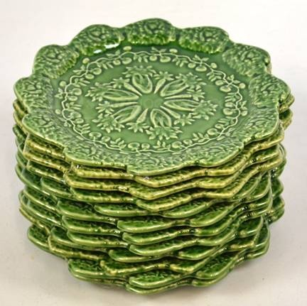 Bordallo Pinneiro Portugal Green Plates & 154 best Portuguese Ceramics images on Pinterest | Porcelain ...