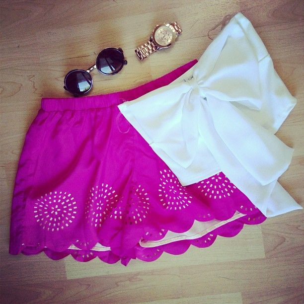 Bow Top and Shorts
