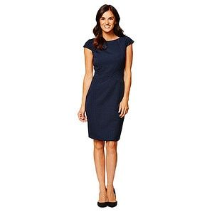 A classic desk to dinner option, this black dress will show off your silhouette.Made from a woven fabric with stretchLinedExposed back zip...