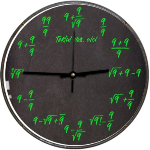 Ceas Matematica - 9