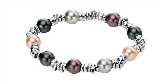 Fiorelli Silver Bracelet With Crystal Pearls - yourgifthouse