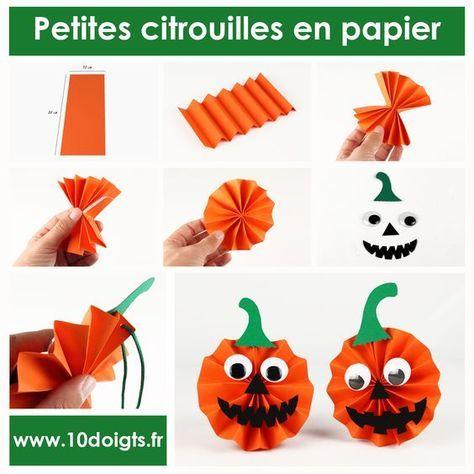 Pour Halloween, créez de jolies petites citrouilles en papier à suspendre. Une activité facile, un résultat qui donnera la (ci)trouille ! #Bricolage #Activités #Halloween #Citrouille #Enfants #Loisirscréatifs #DIY #Craft #Kids #Pumpkin