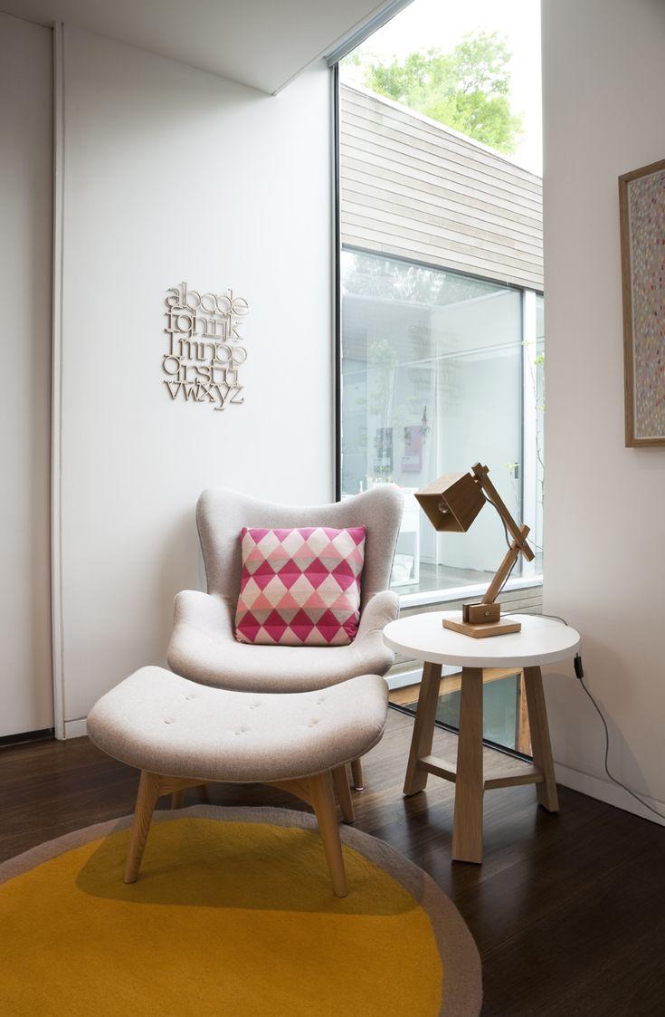 diamond pillow, girl nursery, whites and wood