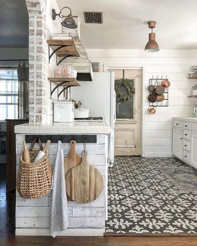 Glamorous Industrial Farmhouse Kitchen