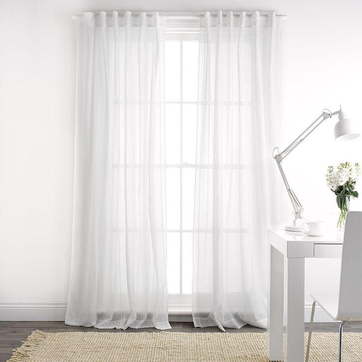 Elisa White Sheer 140x230cm Concealed Tab Top Curtain Windows Doors Pinterest Tops