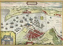 Prospekt af Helsingør og Kronborg fra Georg Braun og Franz Hogenbergs Civitates Orbis Terrarum fra 1500-tallet. Kronborg er et slot og fæstningsanlæg i Helsingør. Slottet er et af Nordeuropas mest betydningsfulde renæssanceslotte og blev i år 2000 medtaget på UNESCOs Verdensarvsliste. Slottet ligger på Sjællands yderste spids, hvor Øresund er smallest, en strategisk vigtig beliggenhed der gjorde det muligt at kontrollere indsejlingen til Østersøen gennem Øresund. Kronborgs historie kan føres…