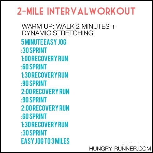 2-Mile HIIT Interval Workout