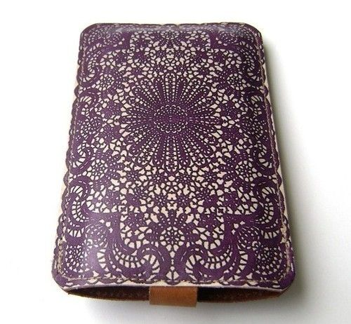 Purple Lace Leather iPhone case LUV