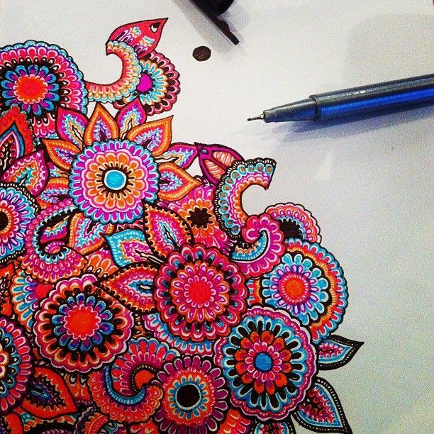 India colors doodle