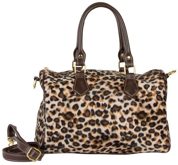 Leopard print Duffle Handbag