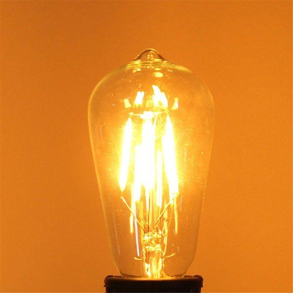 Us 5 87 St58 E27 4w Warm White 400lm Cob Led Filament Retro Edison Bulbs 110 240v Led Light Bulbs From Lights Lighting On Banggood Com With Images Edison Bulb Led Light Bulbs Edison