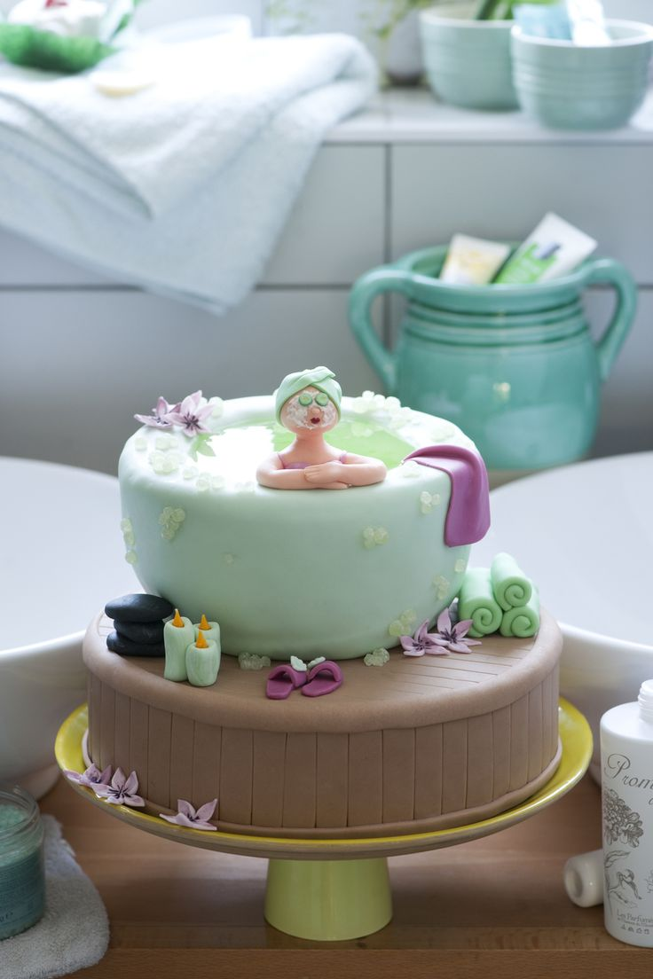 22 best torte bagno images on Pinterest | Spa cake, Fondant cakes ...