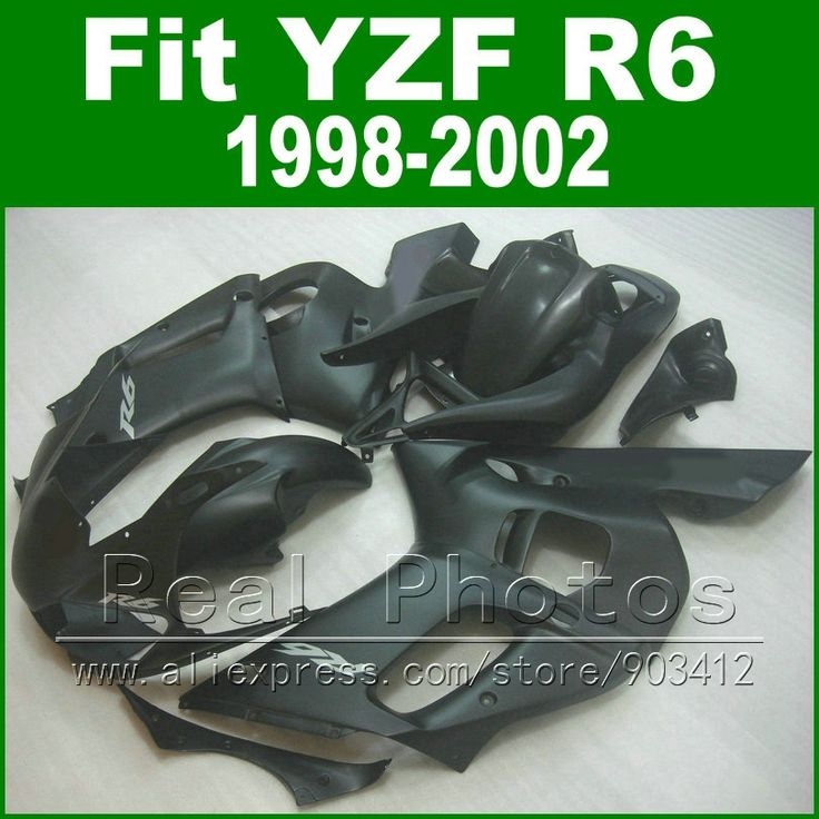 332.94$  Watch here  - Free Custom Plastic parts for YAMAHA R6 fairing kit 1998 1999 2000 2001 2002 matt black YZF R6 fairings 98-02 bodywork