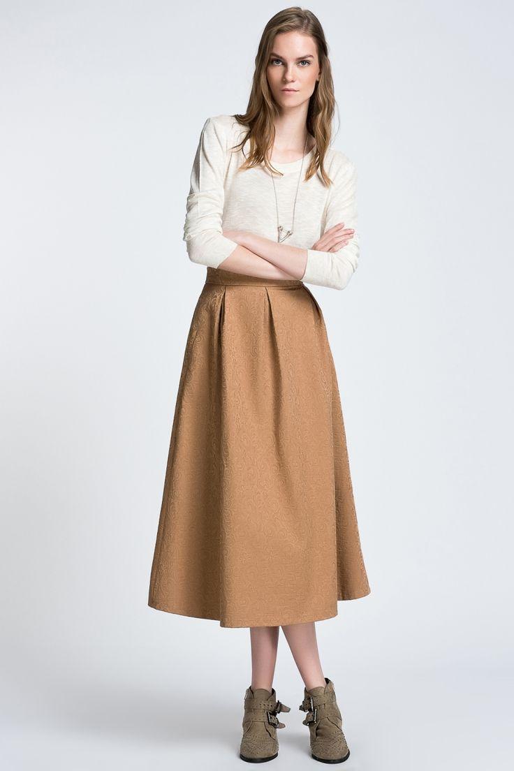 Dilvin For Modagram Jakarlı Uzun Etek Fındık, Alt Giyim Modelleri