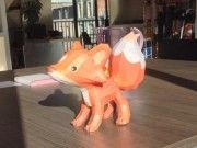 Animal Paper Model - Baby Red Fox Free Papercraft Download