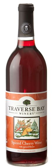 Spiced Cherry Wine - Chateau Grand Traverse A holiday tradition made from a blend of Cherry Wine with natural flavors of cinnamon, clove, orange, and lemon peel.