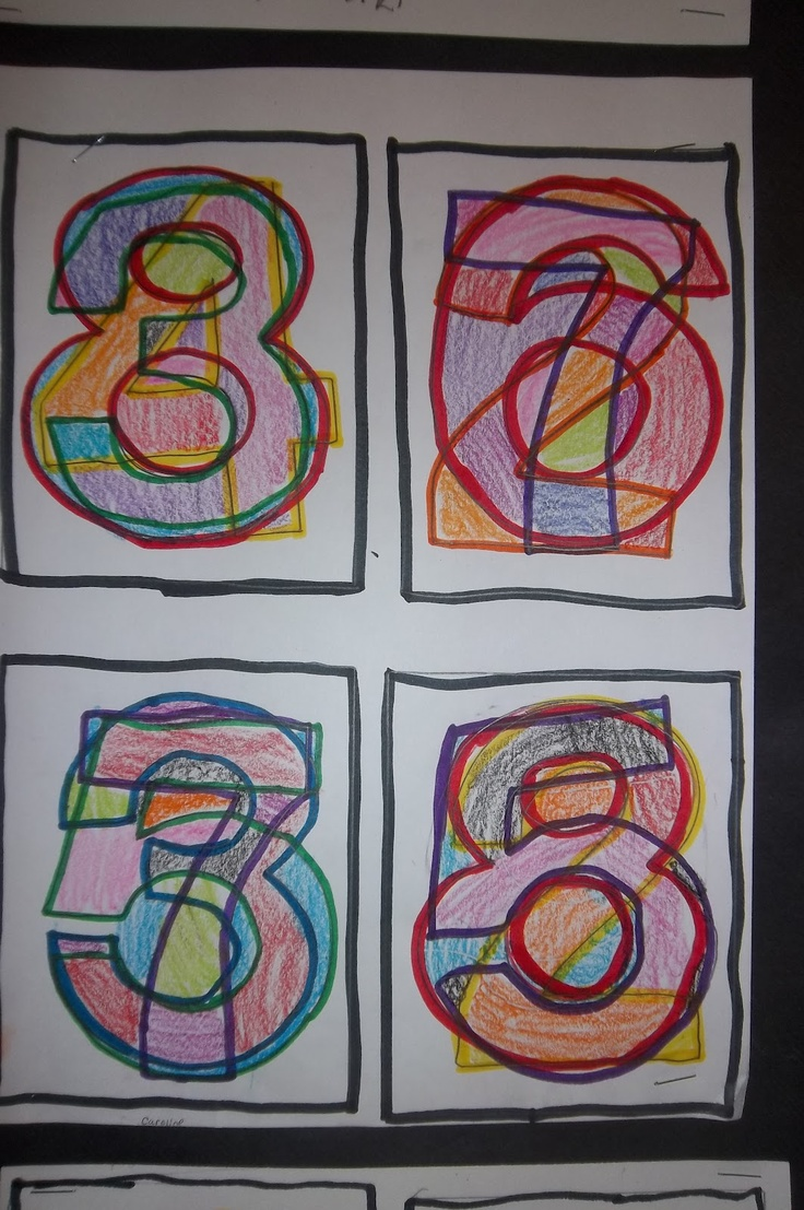 Math Art - have students choose a 2 or 3 digit number then create a layered work that adds up to the chosen number as the title.