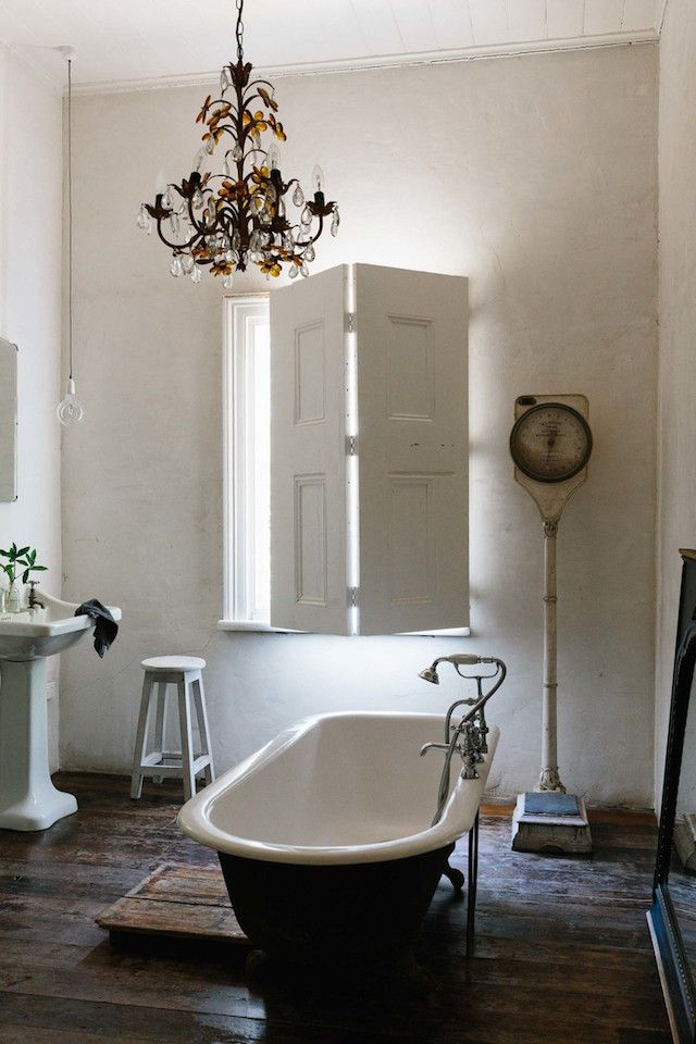 My dream bathroom! Photo - Marnie Hawson. Interior design: Lynda Gardener. The White House Daylesford.