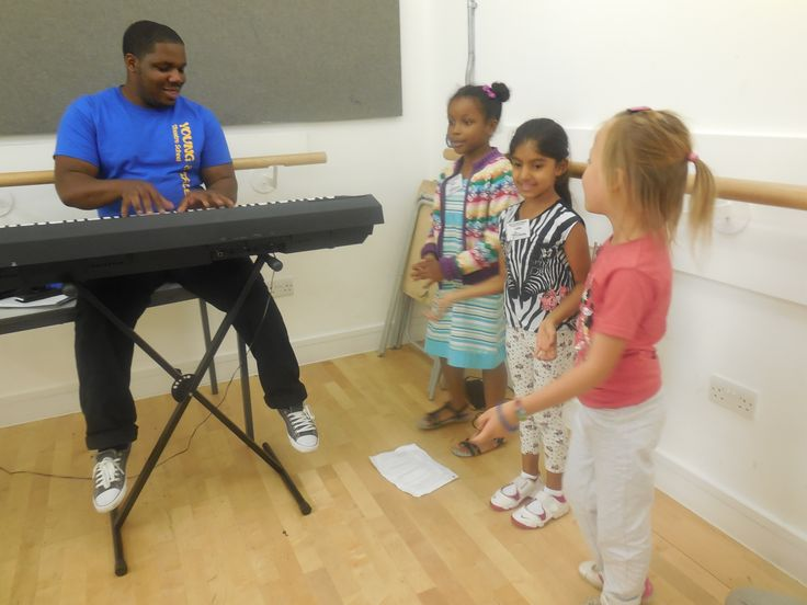 "Singing session in Week 2 – rehearsing our original song ""Kick It"" with our mentor Jordan"