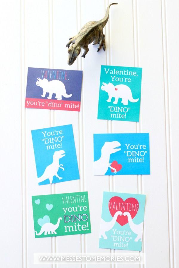 Free printable Dinosaur Valentine for kids... cute!!!
