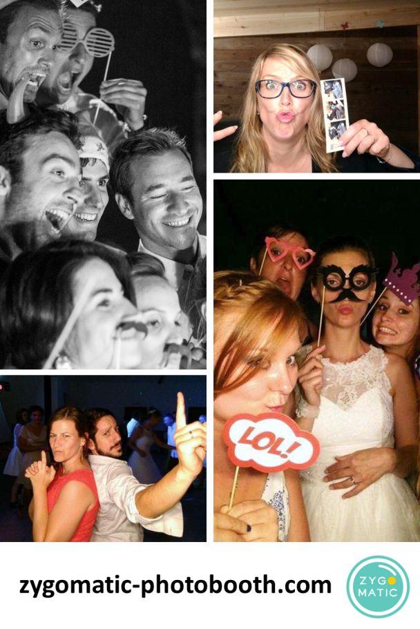 Zygomatic, c'est la location de photobooth pour des animations mariage pleines de fun et de beaux souvenirs.  Le photobooth Zygomatic, c'est un système automatique de prise de photo et d'impression sur papier glacé. C'est un photobooth stylé et original qui s'intègrera parfaitement dans la déco de votre mariage.  Plus d'informations sur zygomatic-photobooth.com